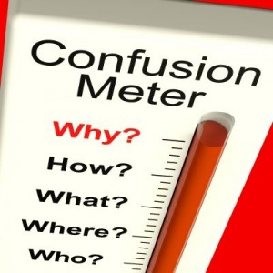 Confusion metre - free stock image
